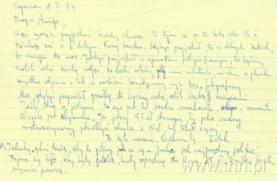 List E. Stachury do J. Kuklińskiego