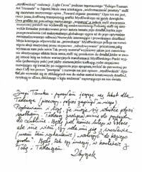 Faks od Zbigniewa Bargielskiego