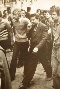 Image from object titled Lech Wałęsa podczas strajku w Stoczni Gdańskiej