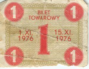 Image from object titled Bilet towarowy