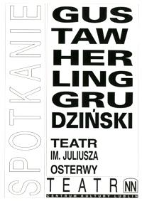 Spotkanie : Gustaw Herling-Grudziński : broszura