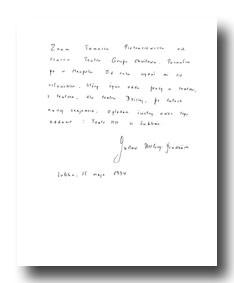 List Gustawa Herlinga-Grudzińskiego