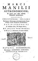 Image from object titled Astronomicon ex optimis quas adhuc habemus editionibus repraesentatum