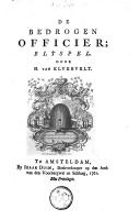 Image from object titled De bedrogen officier blyspel