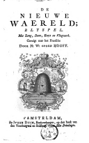 Image from object titled De nieuwe waereld blyspel met zang, dans, konst en vliegwerk