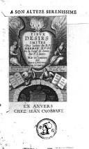 Image from object titled Pieux désirs imités des latins du R. P. Herman Hugo