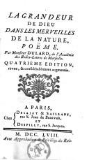 Image from object titled La grandeur de Dieu dans les merveilles de la nature poëme