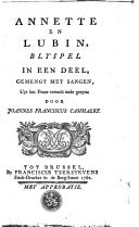 Image from object titled Annette en Lubin blyspel in een deel, gemengt met sangen