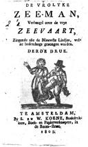 Image from object titled De vrolyke zeeman, verheugd over de vrye zeevaart, Zingende alle de nieuwste liedjes, welke hedendaags gezongen worden