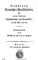 Image from object titled Sammlung Deutscher Volkslieder mit einem Anhange Flammländischer und Französcher, nebst Melodien