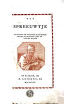 Image from object titled Het spreeuwtje fluitende en zingende allerhande liedjes op bekende oude en nieuwe wijzen
