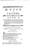 Image from object titled Oedipe à Colone opéra en trois actes dédié à la reine