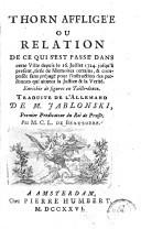 Image from object titled Thorn affligée ou relation de ce qui s'est passé dans cette ville depuis le 16 juillet 1724 jusqu'à présent