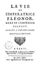 Image from object titled La vie de l'impératrice Eléonor, mère de l'empereur régnant...