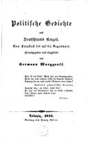 Image from object titled Politische Gedichte aus Deutschlands Neuzeit Von Klopstock bis auf die Gegenwart