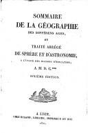 Image from object titled Sommaire de la géographie des différens ages, et traité abrégé de sphère et d'astronomie