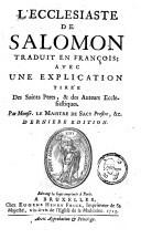 Image from object titled L'Ecclesiaste de Salomon