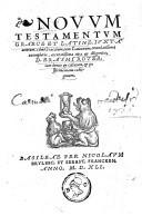 Image from object titled Novvm testamentvm graece et latine, ivxta ueterum, cùm Græcorum, tum Latinorum, emendatißima exemplaria