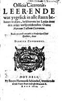 Image from object titled Officia Ciceronis, leerende wat yegelick in alle staten behoort te doen
