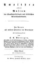 Image from object titled Amalthea oder Museum der Kunstmythologie und bildlichen Alterthumskunde