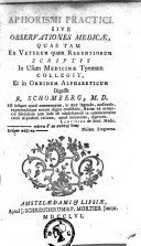 Image from object titled Aphorismi practici, sive Observationes medicae