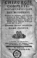 Image from object titled Chirurgie complète, suivant le système des modernes