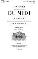 Image from object titled Histoire politique, religieuse et littéraire du Midi de la France, depuis les temps les plus reculés jusqu'à nos jours