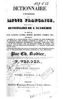 Image from object titled Dictionnaire universel de la langue française