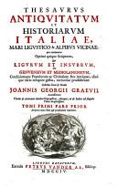 Image from object titled Thesaurus antiquitatum et historiarum Italiae, mare Ligustico & alpibus vicinae ...