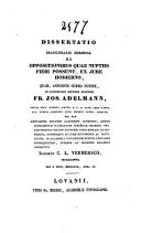 Image from object titled Specimen inaugurale juridicum de jure superficiei in primis secundum novum codicem civilem Belgicum