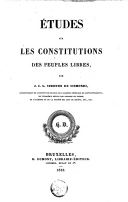 Image from object titled Etudes sur les constitutions des peuples libres