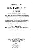 Image from object titled Législation des paroisses en Belgique receuil, par ordre chronologique, des lois, décrets, ..