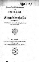 Image from object titled Über den Bruch des Schenkelbeinhalses überhaupt, und insbesondere eine neue Methode, denselben ohne hinken zu heilen