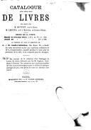 Image from object titled Catalogue d'une belle vente de livres délaissés par M. De Vuyst ... M. Lejeune mardi 14 février 1871