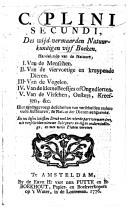 Image from object titled Des wijd vermaarden Natuurkundigen vijf Boeken handelende van de Natuure