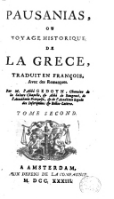 Image from object titled Pausanias, ou voyage historique de la Grèce