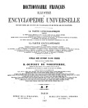 Image from object titled Dictionnaire français illustré et encyclopédie universelle partie lexicographique et encyclopédique