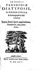 Image from object titled J. A. Comenii Pansophiae diatyposis, ichnographica & orthographicâ delineatione totius futuri operis amplitudinem, dimensionem, usus, adumbrans
