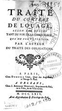 Image from object titled Traité du contrat de louage, selon les règles tant du for de la conscience que du for extérieur,