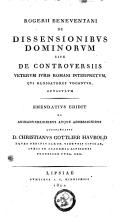 Image from object titled Rogerii Beneventani de dissensionibus dominorum sive de controversiis veterum juris Romani interpretum
