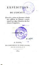 Image from object titled Expédition de l'Escaut enquête, pièces et documens relatifs aux affaires de l'Escaut, communiques aux deux Chambres du Parlement d'Angleterre