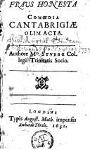 Image from object titled Fraus honesta comoedia Cantabrigiae olim acta