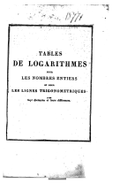Image from object titled Tables de logarithmes