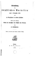 Image from object titled Beleuchtung der päpstlichen Encyclica vom 1864 und des Verzeichnisses der modernen Irrthümer