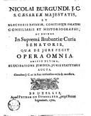 Image from object titled Nicolai Burgundi ... Quae de jure fecit opera omnia