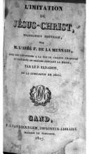 Image from object titled L'imitation de Jésus-Christ