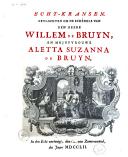 Image from object titled Echt-kransen, gevlochten om de schedels van den heere Willem de Bruyn, en mejufrouwe Aletta Suzanna de Bruyn
