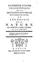 Image from object titled Considérations philosophiques de la gradation naturelle des formes de l'être ou les essais de la nature qui apprend a faire l'homme