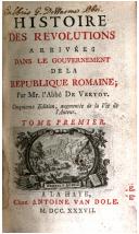 Image from object titled Histoire des révolutions arrivées dans le gouvernement de la république Romaine