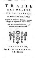 Image from object titled Traité des délits et des peines